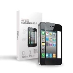 Real Glass Screen Shield  iPhone 4/4S Black