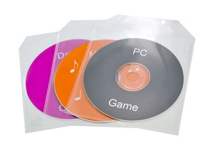 Single CD/DVD 200 Clear Plastic Sleeves